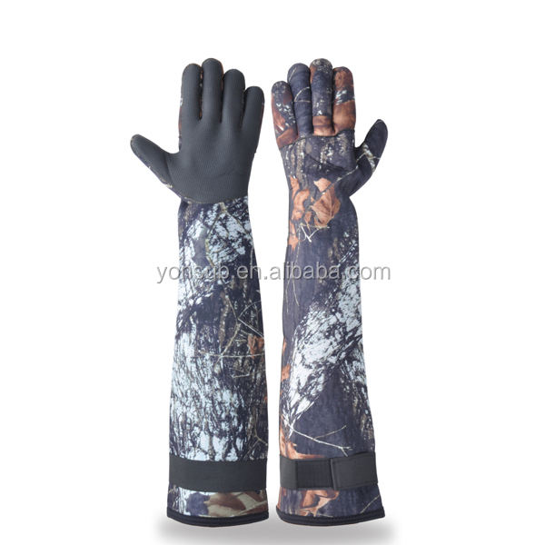 long camouflage waterproof dive glove
