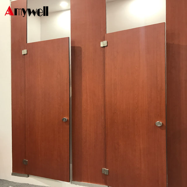 Amywell Free Sample fireproof waterproof Formica hpl toilet cubicles portable
