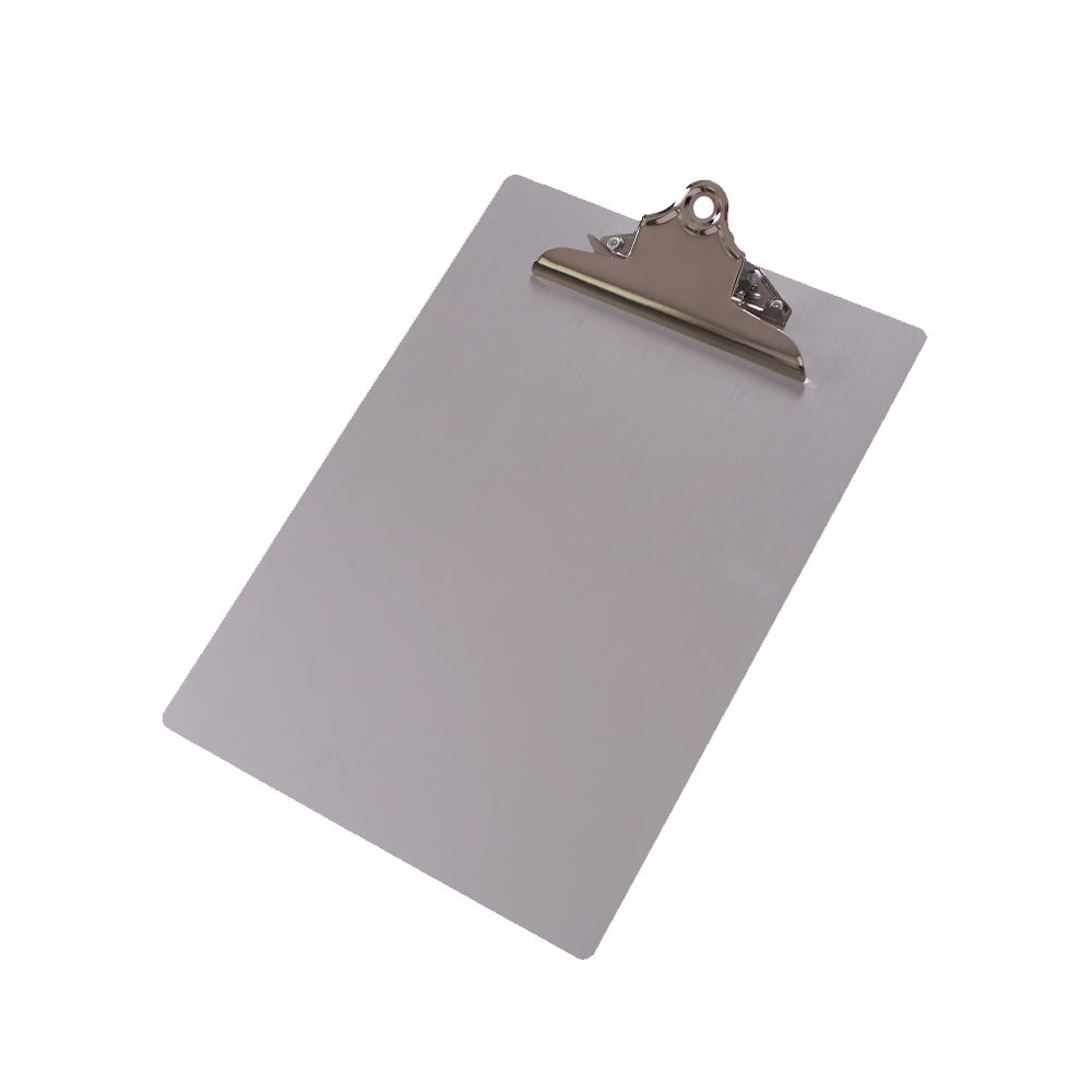 Aluminum Letter size Clipboard with silver butterfly clip