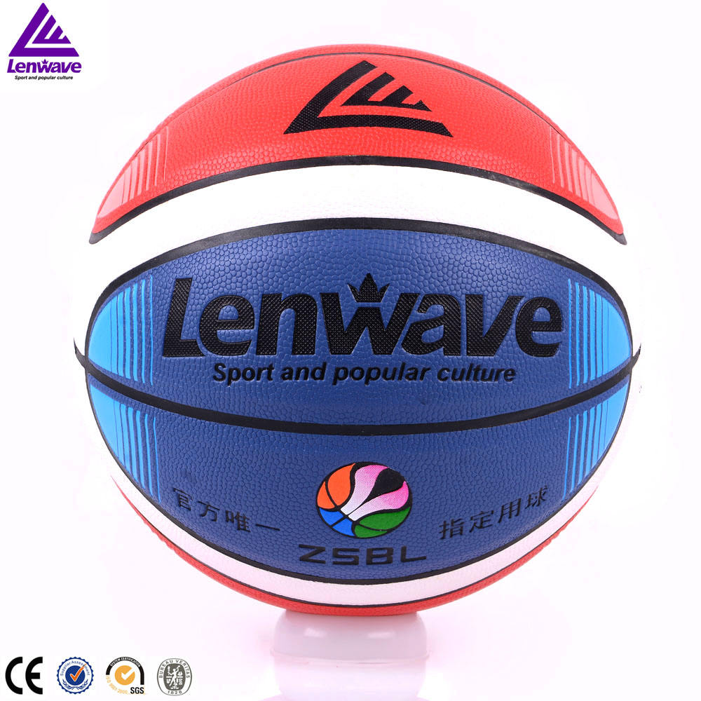 Lenwave sports goods keep stock colorful genuine leather basketball