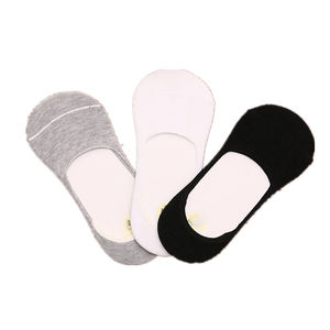 Hot Selling Wholesale Anti Slip Summer Solid Colored Plain Invisible Socks For Adults