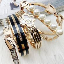 Cheap Cuff Bangle Bracelets Charm Fashion Women Stainless Steel Bracelet