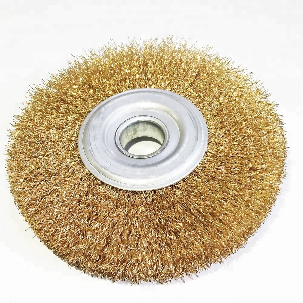 coppered steel wire wheel brush