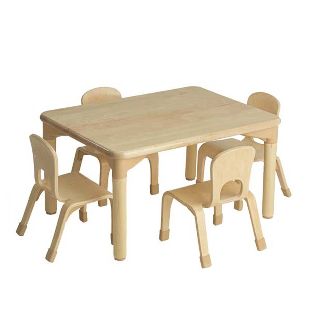 Wholesale nursery equipment solid wood table and chair baby furniture set