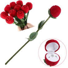 Best Quality Best Quality Red Rose Jewelry Box Wedding Ring Gift Case Earrings Storage Display Holder