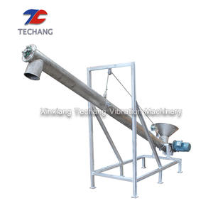 Large transmission capacity screw feeder conveyor