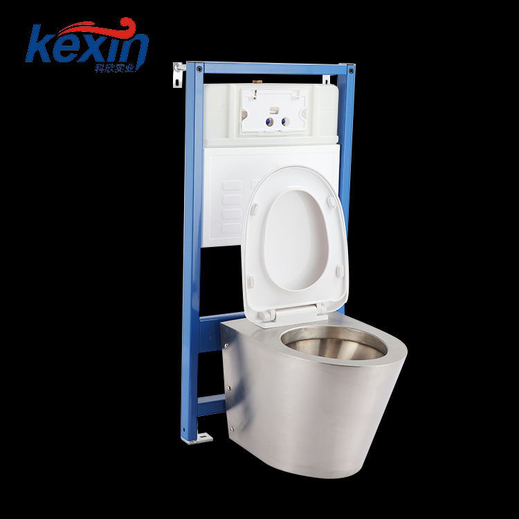 Eco-Friendly WC Toilet Chinese Stainless Steel Toilet Commode