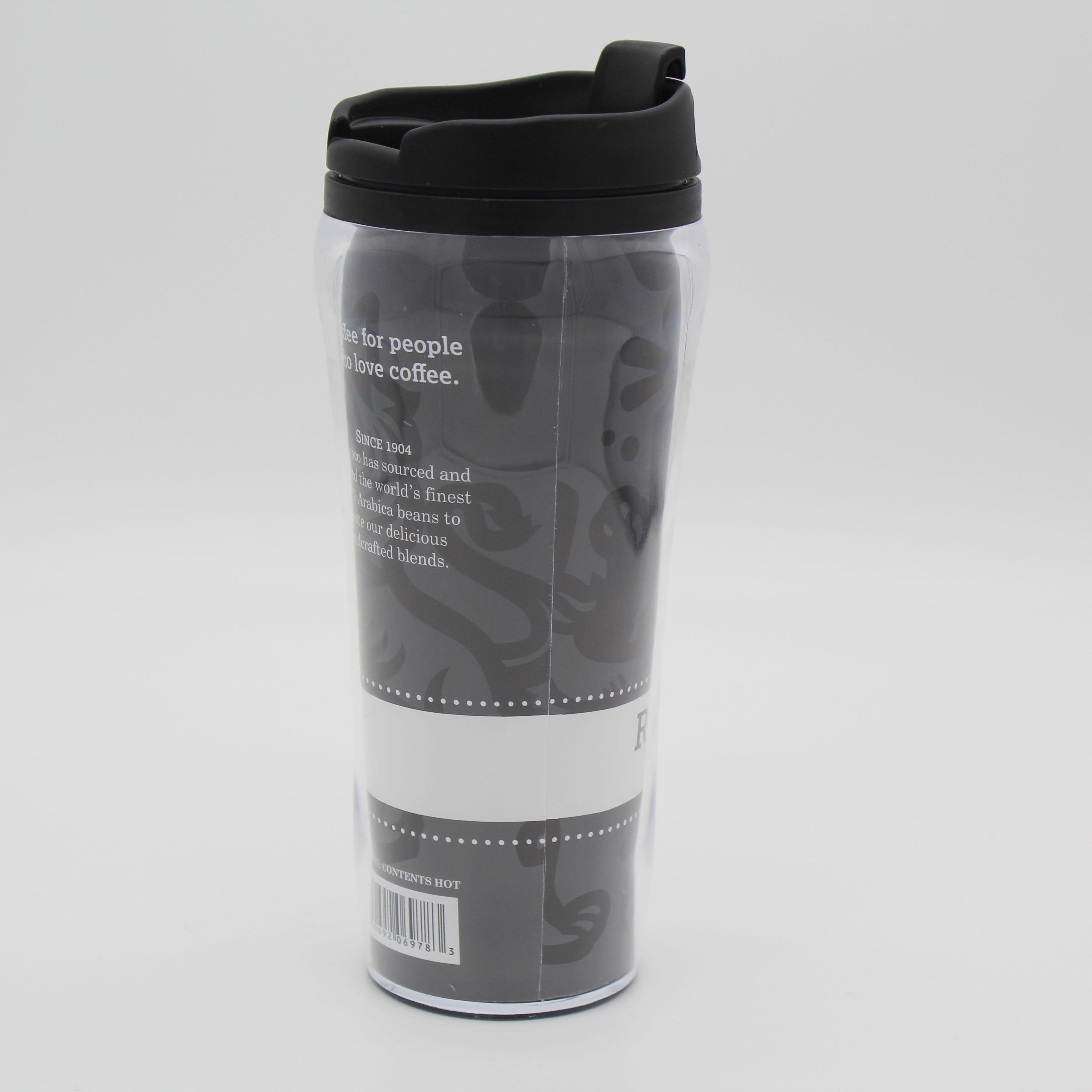 Tasse de voyage Canette de Soda en Acier Inoxydable Thermique Café Paille Gobelet Blanc 350 ml