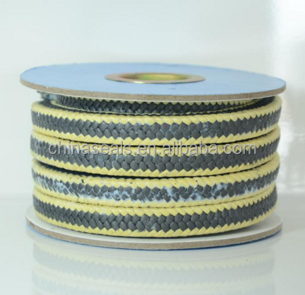 Graphite PTFE Packing With Kevlar Fiber Corners