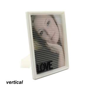2018 new product ideas diy letter board plastic photo frame for promotion