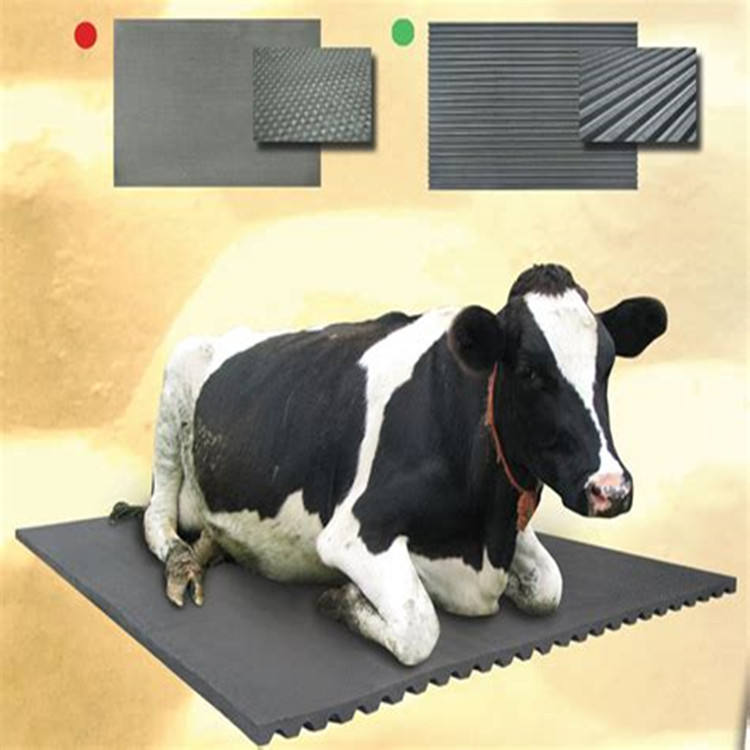Anti Wear Cow Rubber Mat Round Stud Groove Design Horse Stall Mats For Sale