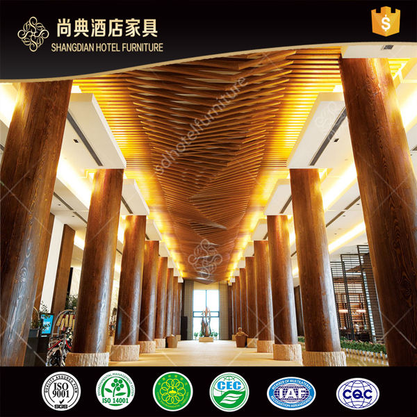 Modern Wood Luxury Hotel Fixing Furniture Decorative Wall Panel