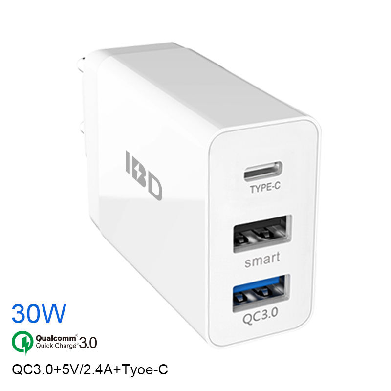 OEM Qc3.0 Charger Dinding USB PD Quick Charge 3.0 Wall Charger Power Bank