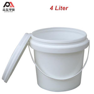 High Quality 4L 5L 10L 20L 25L White Round Cheap Small Plastic Chemical Barrels/bucket