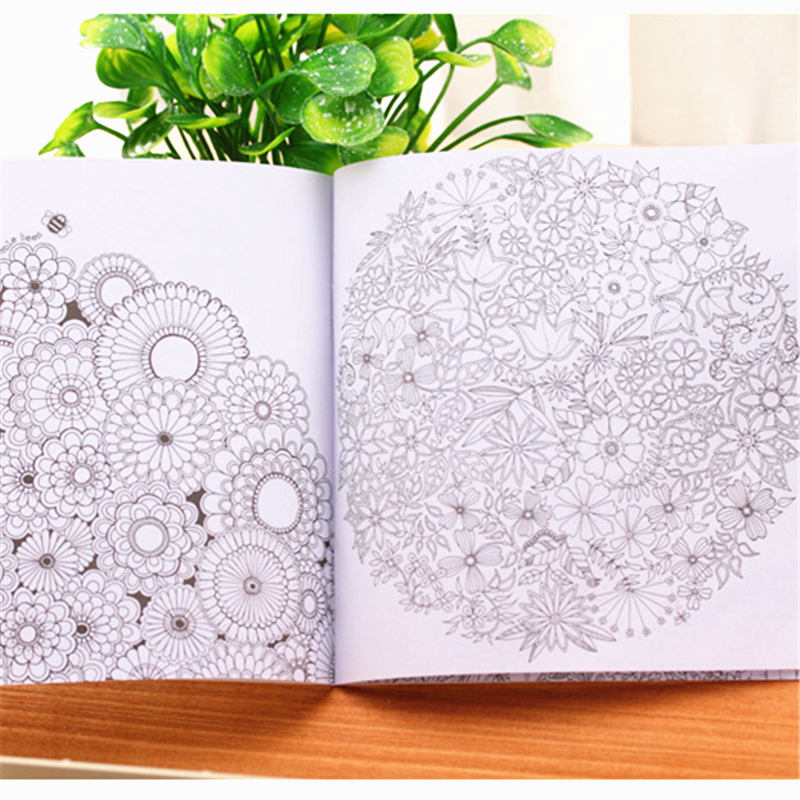 Customized adult colouring book kids colour coloring book in offset printing