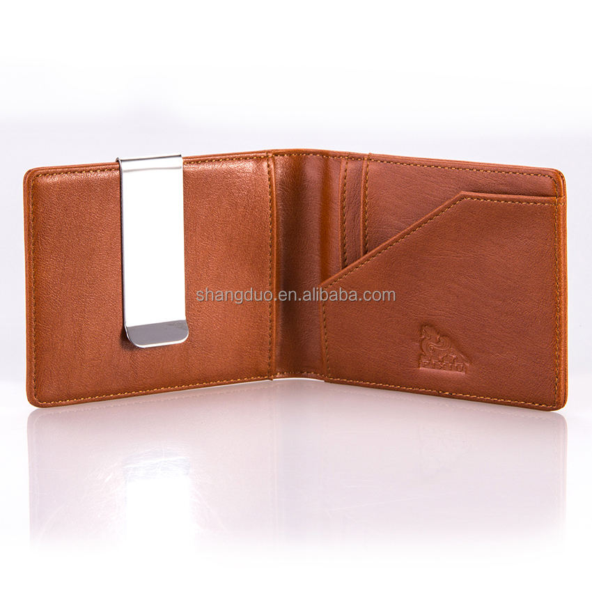 OEM & ODM 공장 PU/Genuine Leather 돈 Clip Wallets 대 한 된 돈 Hold