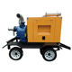 Agriculture farming diesel water pump on the trailer and silence box