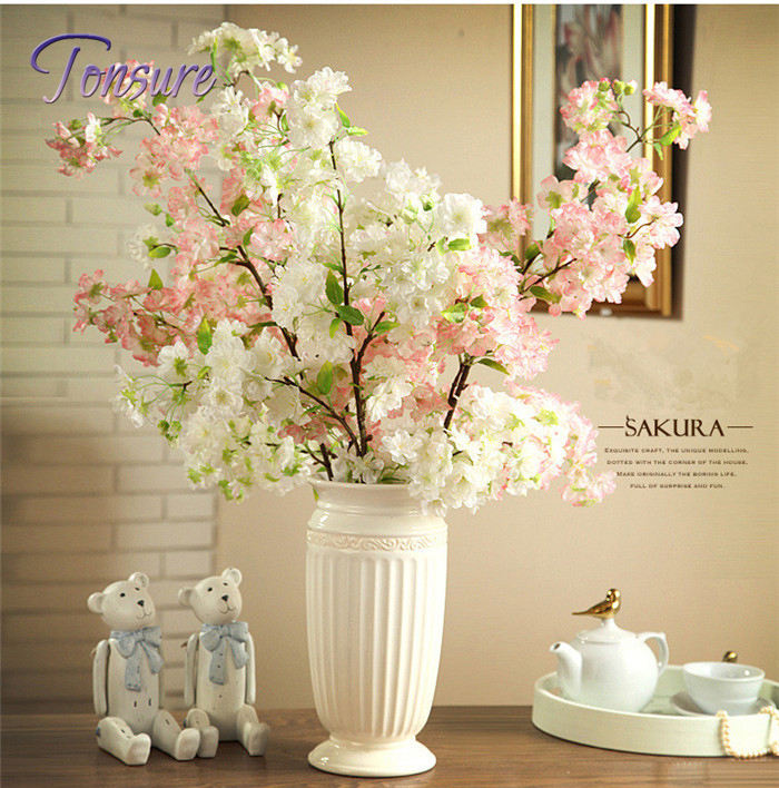 2Pcs/lot Tokyo Sakura Cherry Blossom artificial fake silk flower living room home garden party wedding table decoration supply