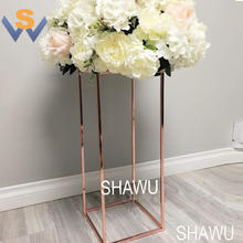 Wedding decoration flower stand rectangular square shape flower arranging stands