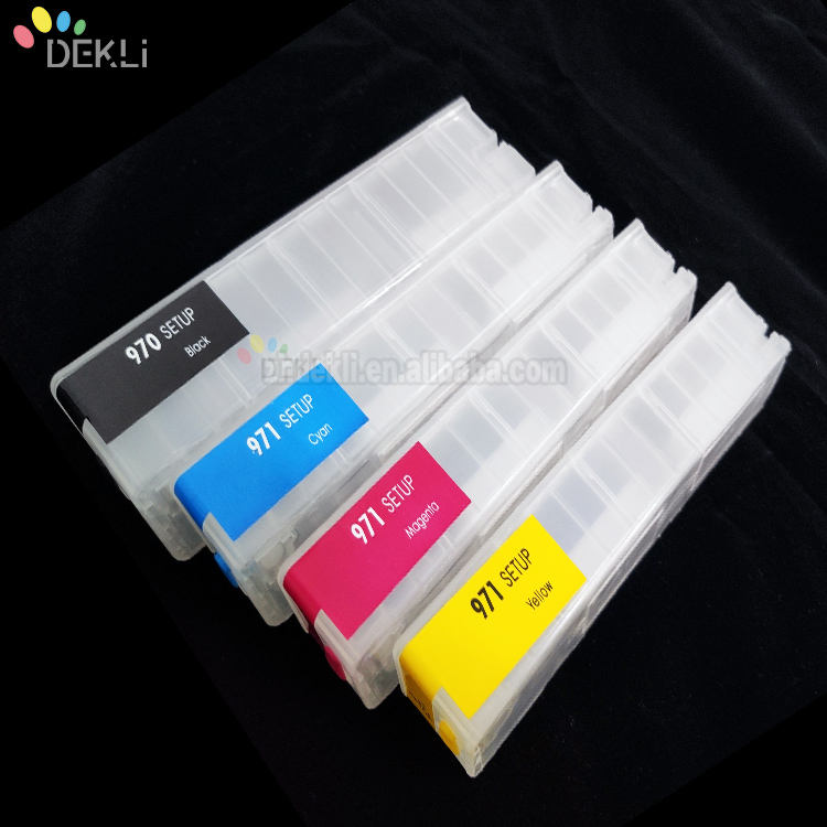 For HP 972 913 Empty Permanent ink cartridge for HP PageWide Pro MFP 477dn MFP 577z refill cartridge with Auto Reset chip