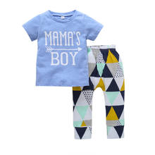 Wholesale 2pcs T-shirt and Pants Kids Clothing Sets Baby Clothes T-shirt