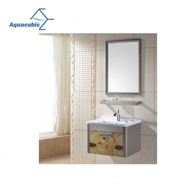 Wall Hung Bathroom Cabinet Hot Sale Luxury Simple Design Slim Wall Hung Bathroom Vanity Cabinet For Small Bathroom
