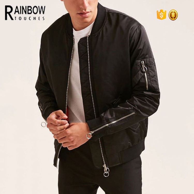 Wholesale Winter Plain Canvas Bomber Jacket Men