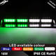 16W Green white LED Dash Deck Windshield Warning Emergency Flashing Strobe Lights for patrol car