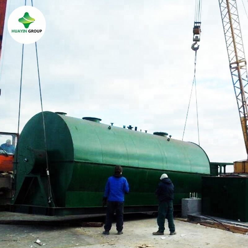 2800mm * 6000mm waste engine oil recycling machine to base oil