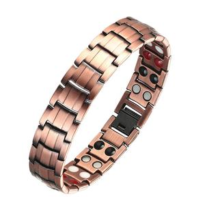 15mm Wide Medical Arthritis Wholesale 4 in 1 Heavy Magnetic Copper Bracelet