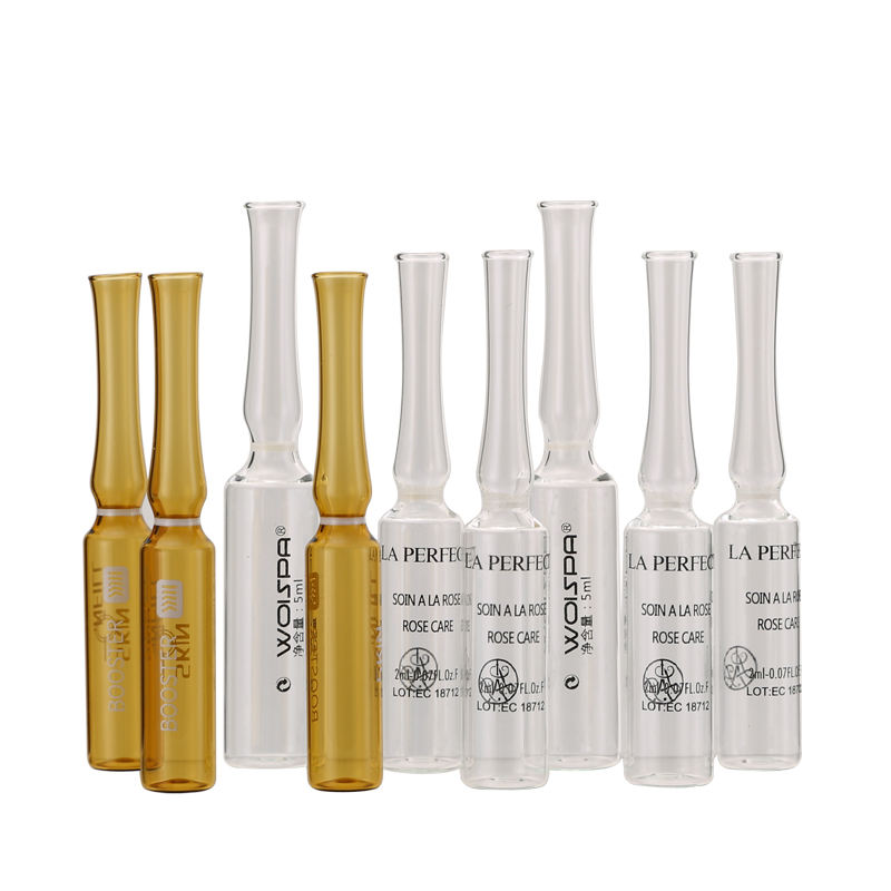 Ampoule 1ml 5ml 10ml glass bottle high quality cosmetic ampoule with screen printing