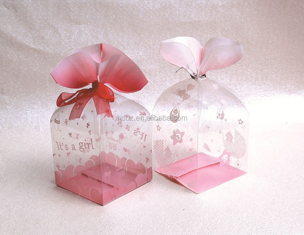 custom clear plastic gift boxes / PET transparent packaging