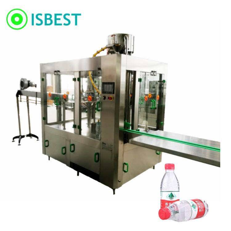 Automatic Beverage Juice Mineral Water Bottle Filling Capping Labeling Production Line Machines