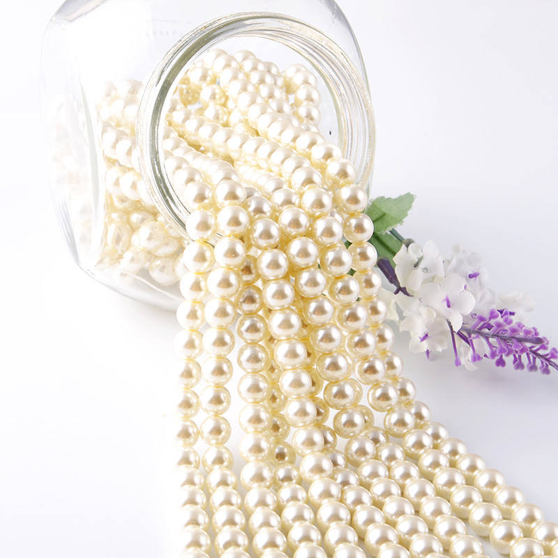 (High) 저 (Quality 펄 Beads Crystal 넥 라인의 진주, 느슨한 Faux Pearl Beads In 6 미리메터 8 미리메터 10 미리메터