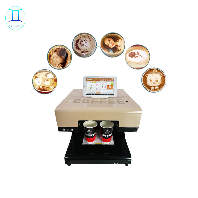1-4 cups Digital coffee printer machine on latte foam ink with best service and low price