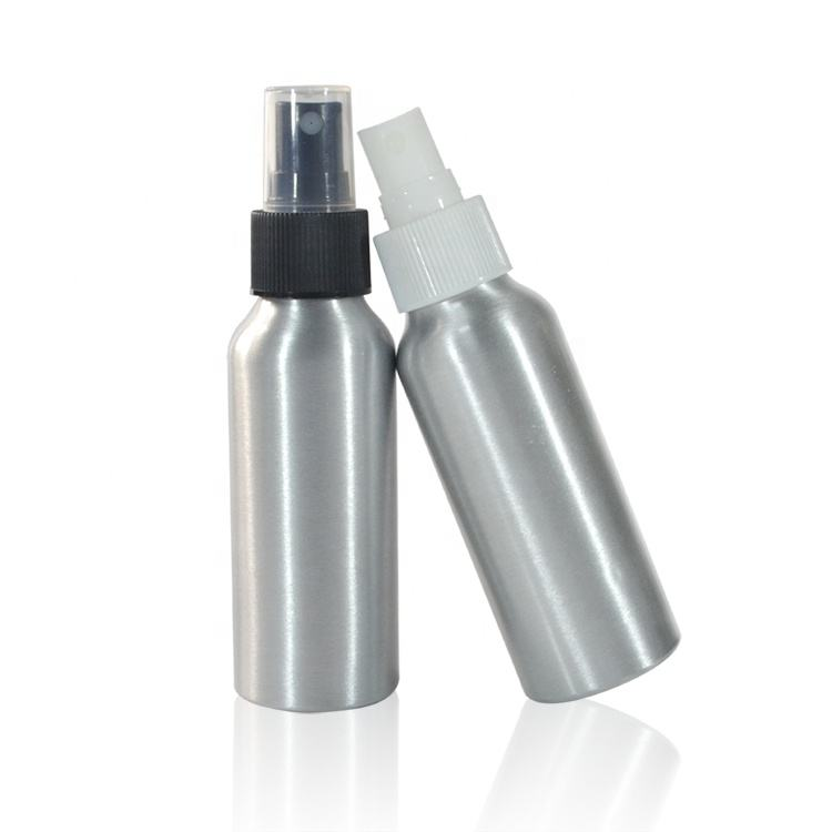 cosmetic packaging essential oil 30ml 50ml 60ml 100ml 150ml 250ml 300ml aluminum cosmetic spray bottle with plastic cap