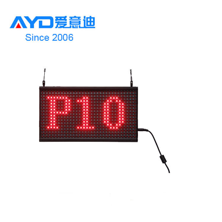 HD P10 LED mini programmable screen led display board, led moving sign