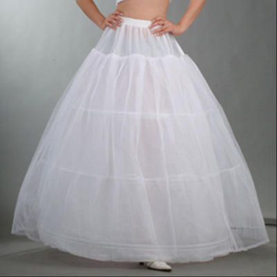 Wholesale Wedding Accessories Hot Sale 3 Hoops Bridal Petticoats White Cheap Wedding Ball Gowns Petticoat