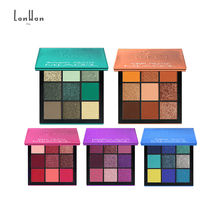 Private Label 2019 New Fantastic 9 Pigment Party Color Eyeshadow Palette Loose Glitter Green Eyeshadow