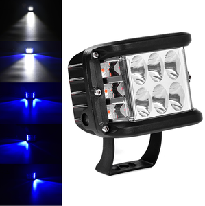 36W Led Work Light 3inch 12V dc car work light 2 Sides Strobe Dual Color Wide Beam dual Side Shooter Driving Work Light