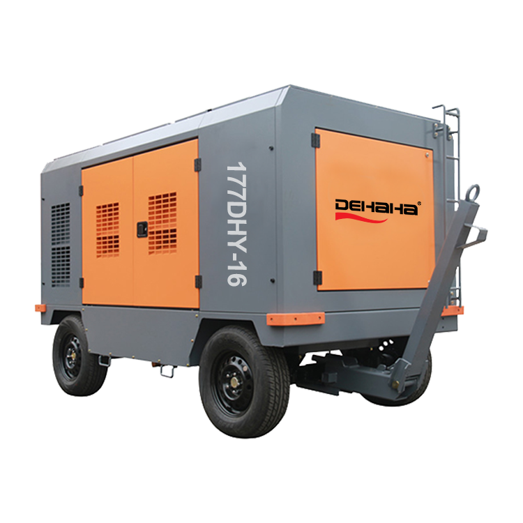 250psi 17 Bar 750 Cfm Rock Sabbiatura Portatile Diesel Compressore D'aria In Vendita
