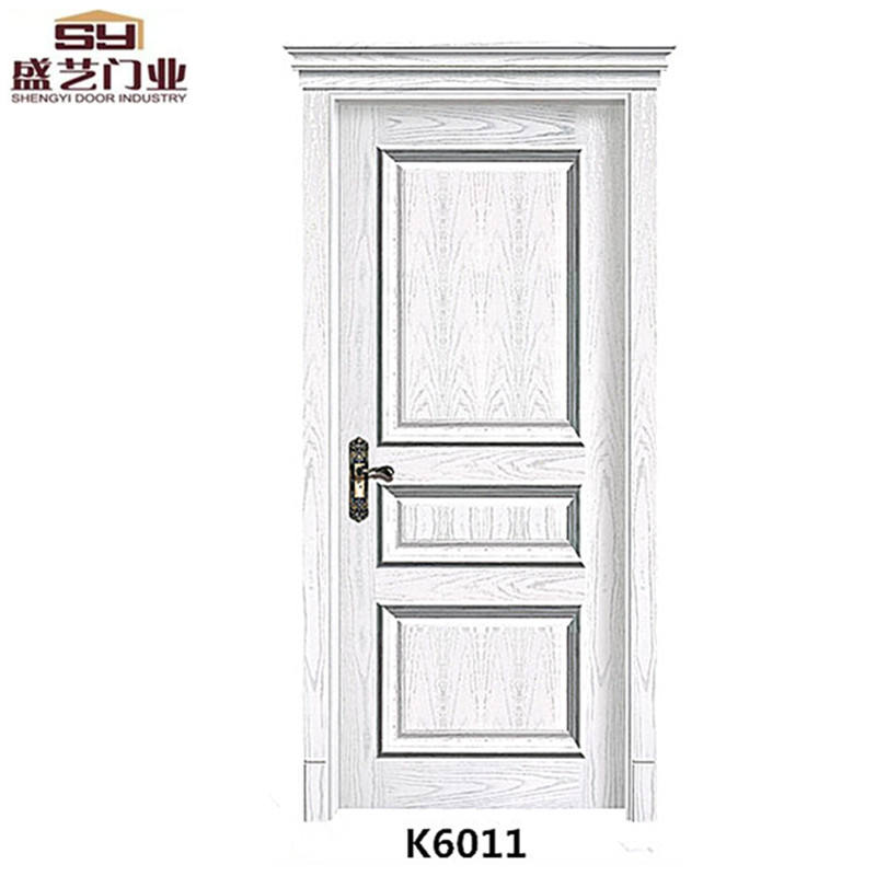 European style solid wooden door with WPC / HDF for sales