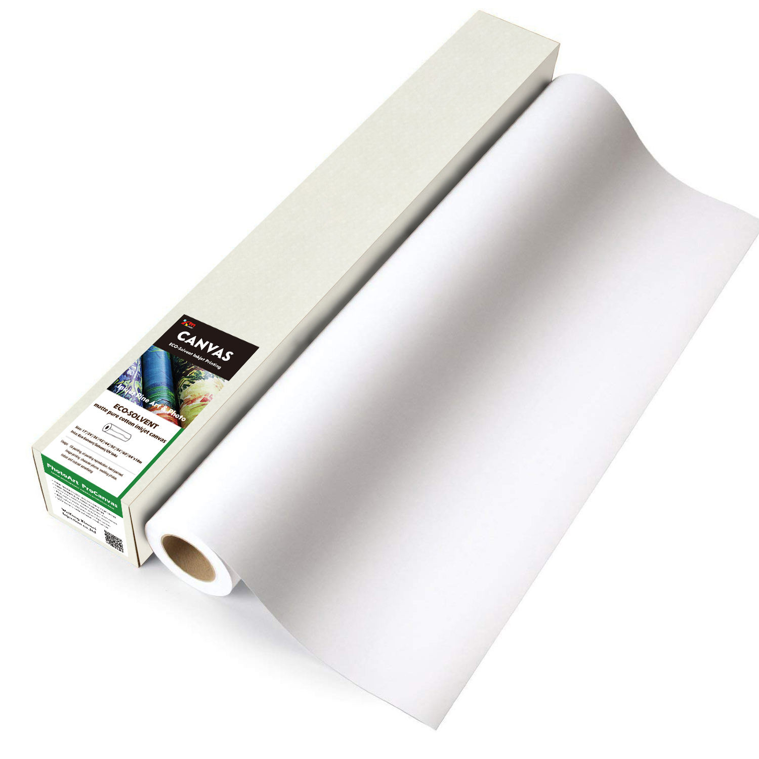 synthetic inkjet fiber photo canvas roll polyester printable