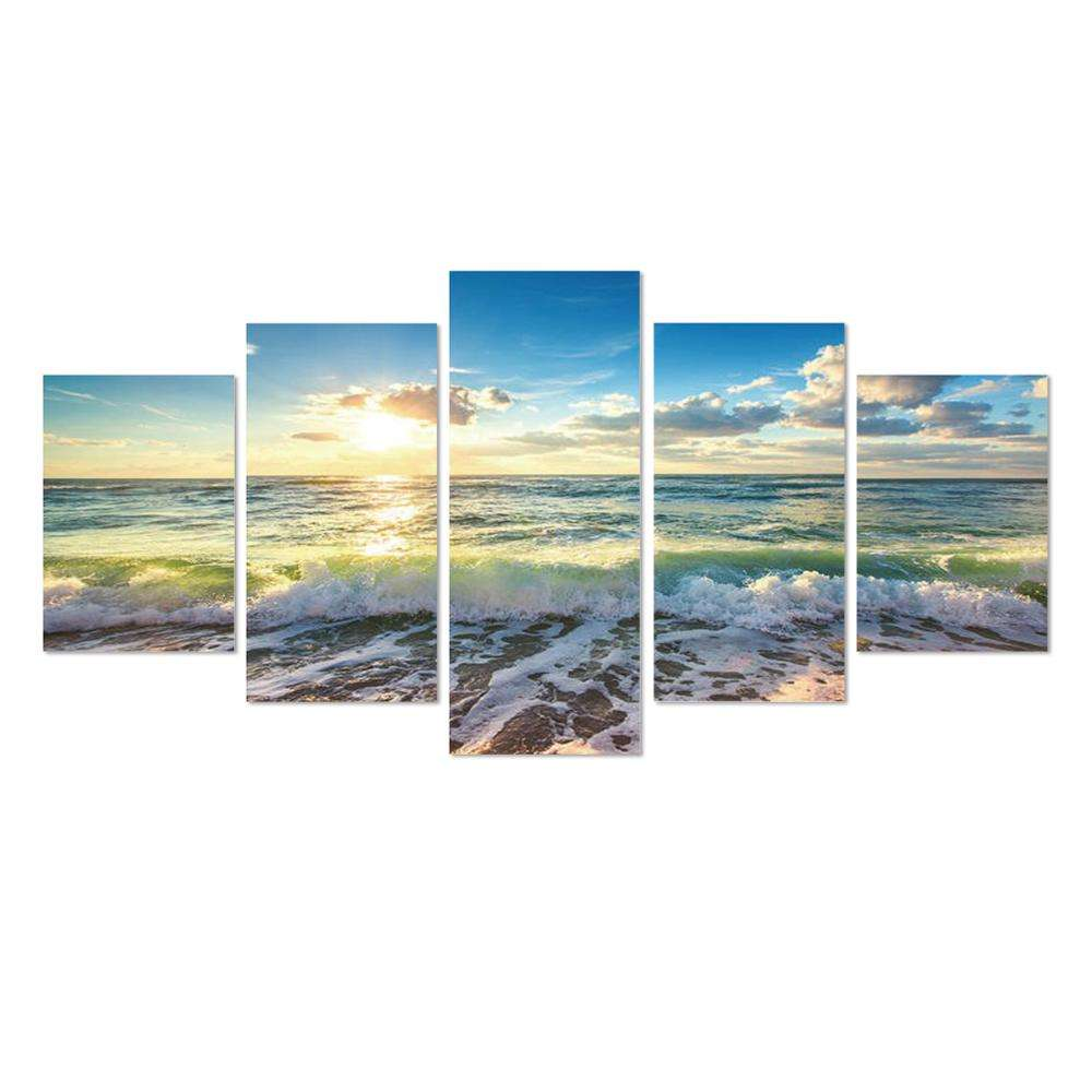 Decorate Art Diamond Embroidery Cross Stitch Arts Craft Seaside Sunrise Blue by Number Kits Full Drill 5d Diamond Painting Kits