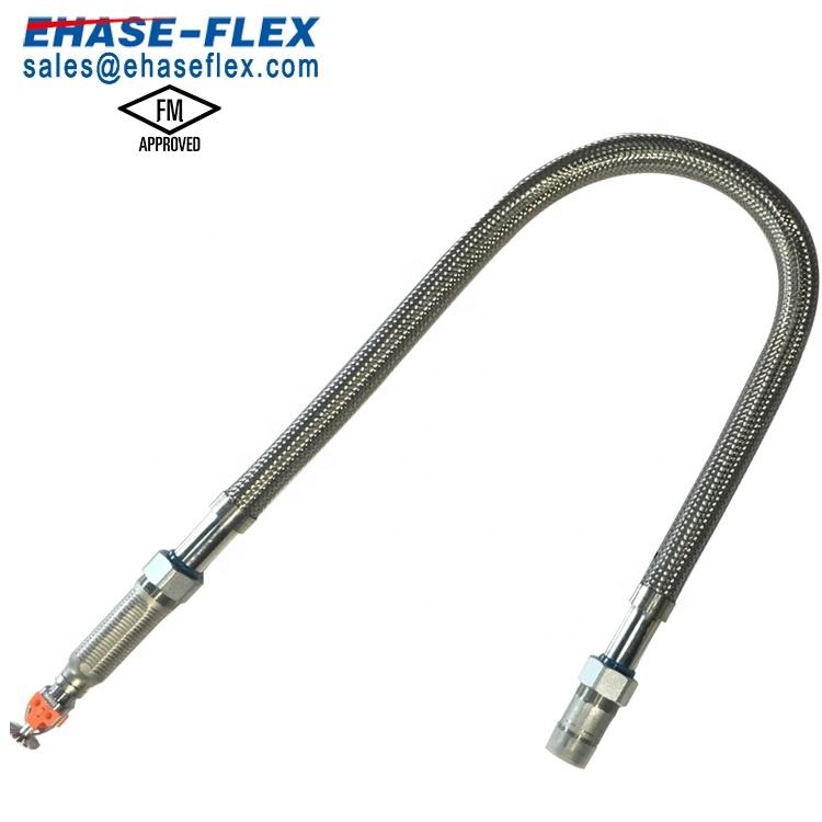 FM Approved Braided Fire Sprinkler Flexible Hose Sprinkler Drops Used in Commercial Building