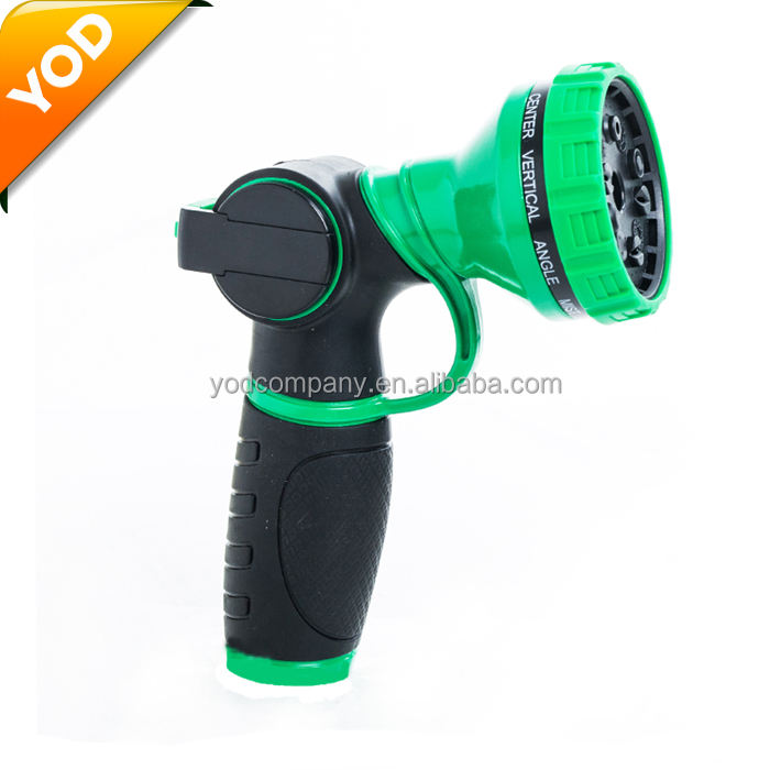 Amazon hot home garden watering 10 function metal spray gun garden hose nozzle
