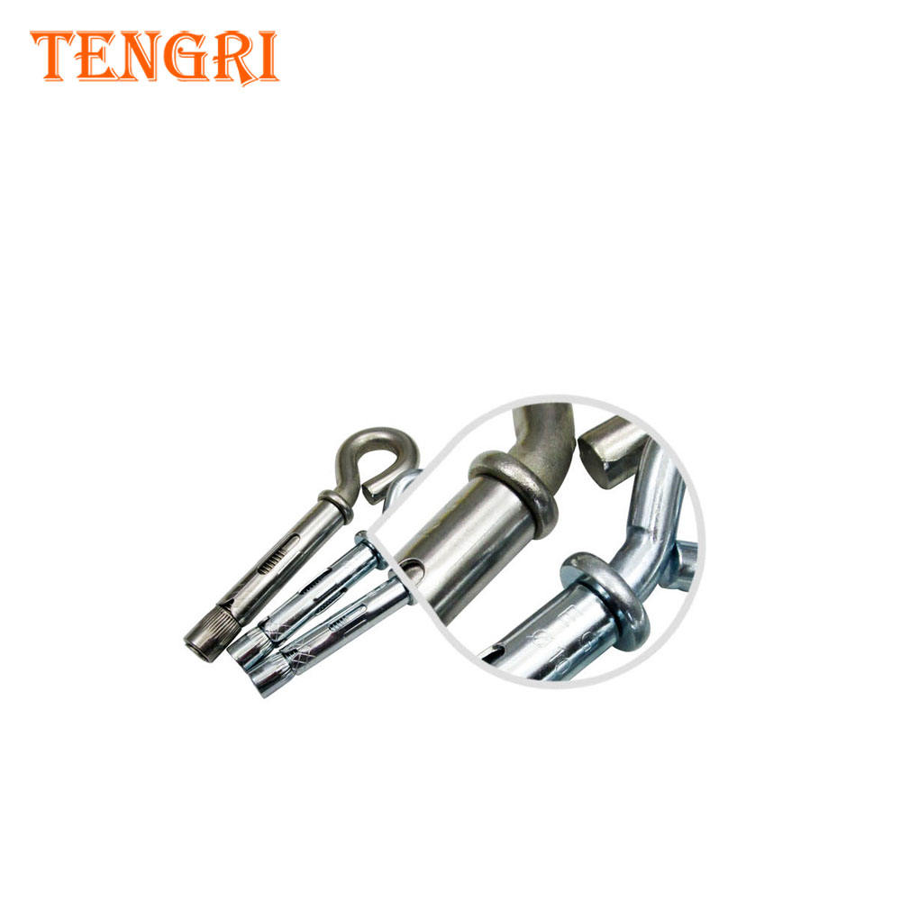 stainless steel hook bolt anchor construction with bolts nuts and washers A2 A4 HDG hardware