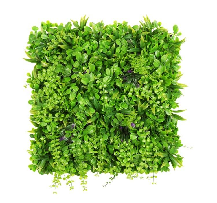 Green Mixed Plant Type High Density Jungle Artificial Wall Grass Panels Artificial Grass Bush Wall for Decor