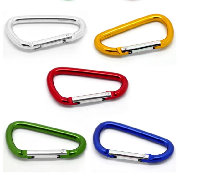 "2.0 ""/5CM Aluminum D Ring Carabiner Clip,Lightweight Durable Small Caribeaner Keychain Hook"