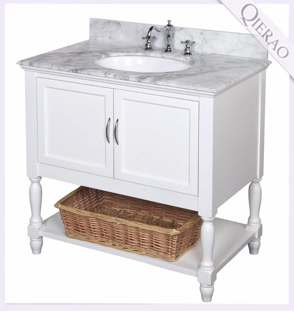 36 inch Lowes Bathroom Vanity Cabinets with Ceramic Sink